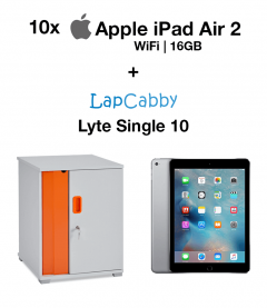 10x Apple iPad Air 2 (WIFI) 16GB Space Gray & Lyte Single 10 Trolley Bundle