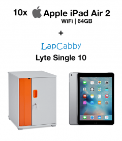 10x Apple iPad Air 2 (WIFI) 64GB Space Gray & Lyte Single 10 Trolley Bundle