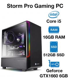 Storm Pro Gaming PC Core i5   16GB RAM   512GB SSD   Geforce GTX 1660 6GB   Windows 10 Pro