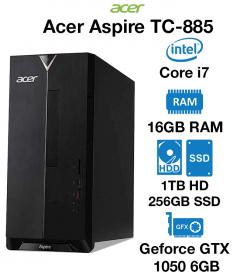 Acer Aspire TC-885 Gaming PC Core i7 | 8GB | 1TB HDD/256GB SSD | GTX 1050 2GB | Windows 10 Home (Open Box)