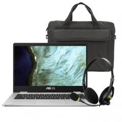 ASUS C423NA-WB04 Chromebook Bundle (New)