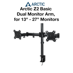 "Arctic Z2 Basic Dual Monitor Arm, 13"" - 27"" Monitors"