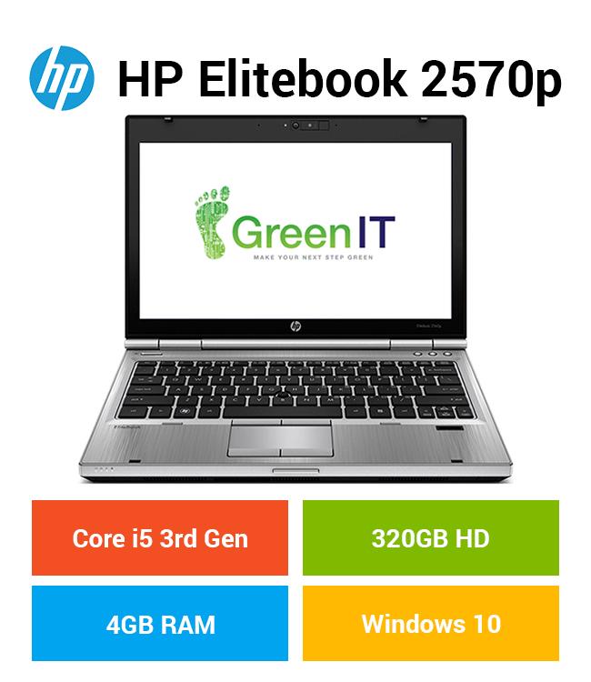 HP Elitebook 2570p Core i5 | 4GB | 320GB HD Grade C
