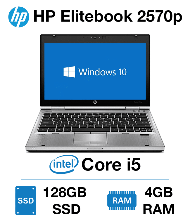 HP Elitebook 2570p Core i5 | 4GB | 128GB SSD