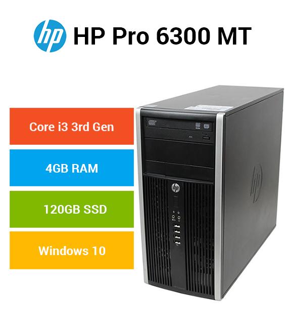 HP Compaq 6300 Pro MT Core i3 | 4GB | 120GB SSD