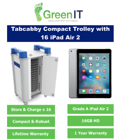 16 x Apple iPad Air 2 16GB and TabCabby Compact 16H Trolley