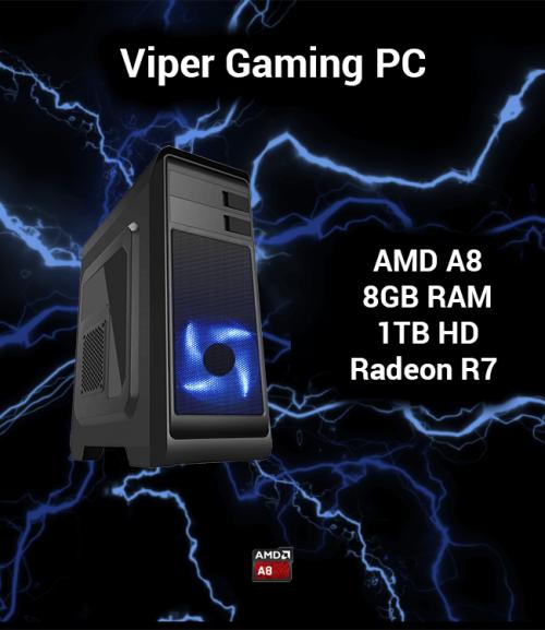 Viper Gaming PC AMD A8 | 8GB | 1TB HD