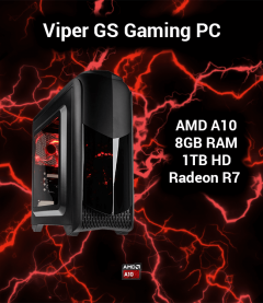 Viper GS Gaming PC AMD A10 | 8GB | 1TB HD