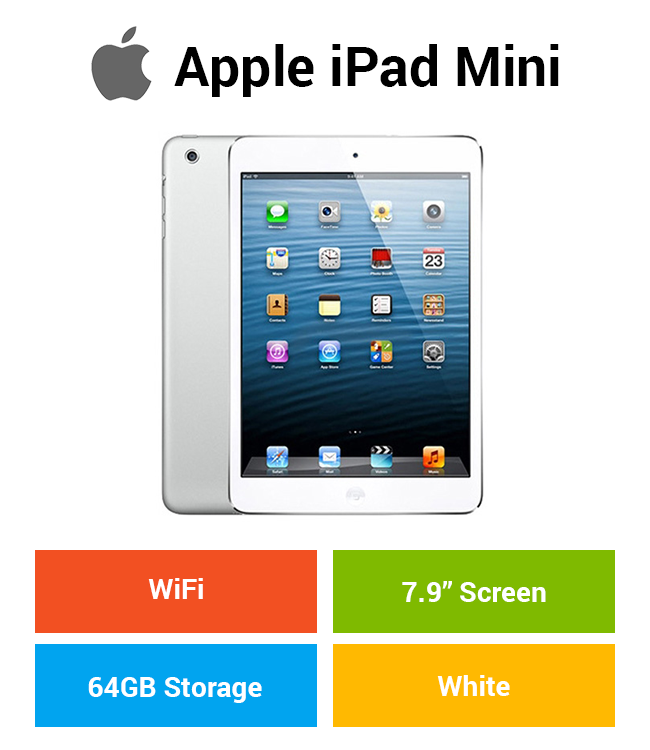 Apple iPad Mini (WIFI) 64GB White