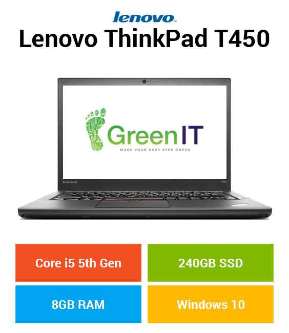 Lenovo ThinkPad T450 Core i5 | 8GB | 240GB SSD