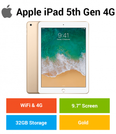 Apple iPad 5th Gen (WIFI & 4G) 32GB Gold