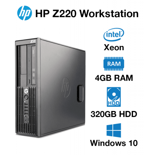 HP Z220 Workstation Xeon E3-1245   4GB RAM   320GB HD