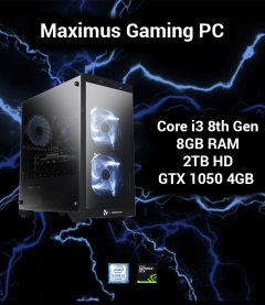 Maximus GX Gaming PC Core i3 | 8GB | 2TB HD