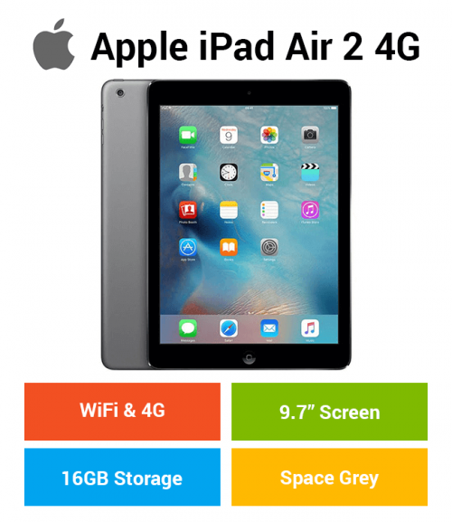 Apple iPad Air 2 (WIFI & 4G) 16GB Space Gray
