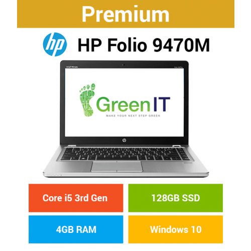 HP Folio 9470m Core i5 | 4GB | 128GB SSD (Premium)