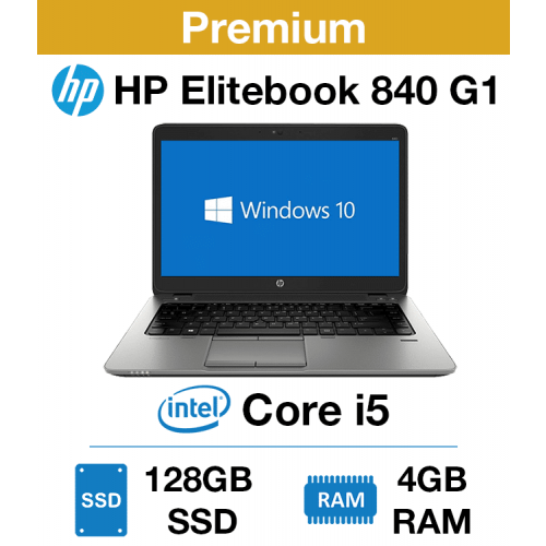 HP Elitebook 840 G1 Core i5   4GB   128GB SSD (Premium)