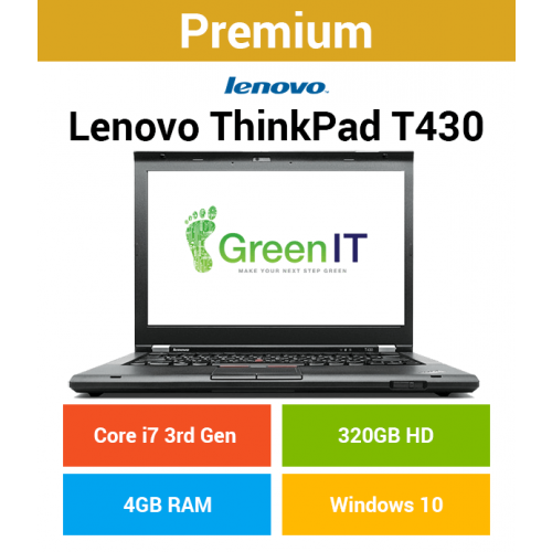 Lenovo ThinkPad T430 Core i7 | 4GB | 320GB HD (Premium)