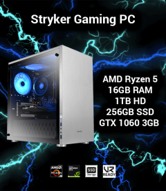 Stryker Gaming PC AMD Ryzen 5 | 16GB | 1TB HD/256GB SSD