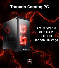Tornado Gaming PC AMD Ryzen 3 | 8GB | 1TB HD