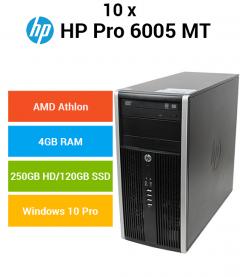 10 x HP Compaq 6005 Pro MT AMD Athlon | 4GB | 250GB HD/120GB SSD (Schools Offer)