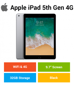 Apple iPad 5th Gen (WIFI & 4G) 32GB Black