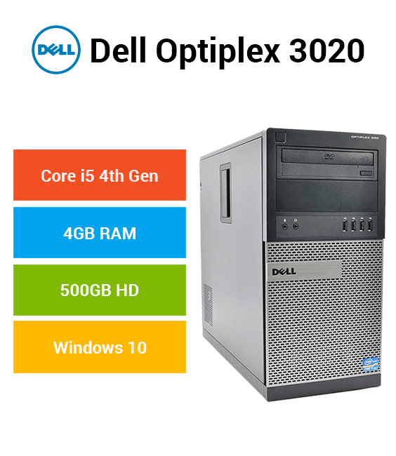 Dell Optiplex 3020 Tower Core i5 | 4GB | 500GB