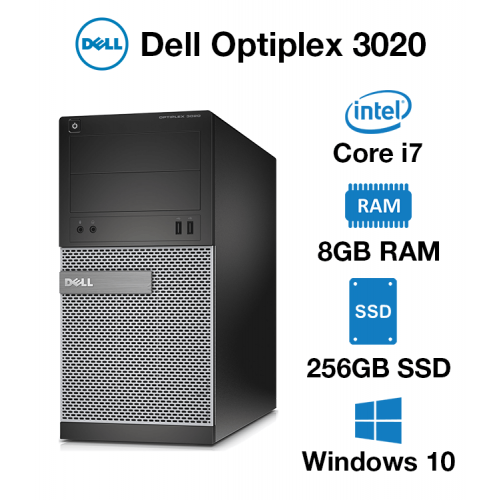 Dell Optiplex 3020 Tower Core i7   8GB   256GB SSD