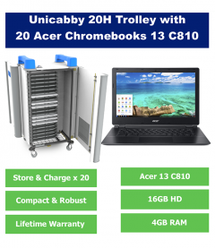 20 x Acer Chromebook and UniCabby 20H Trolley