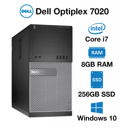 Dell Optiplex 7020 Tower Core i7 | 8GB | 256GB SSD