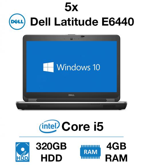 5 x Dell Latitude E6440 Core i5 | 4GB | 320GB HD (Charity Only)