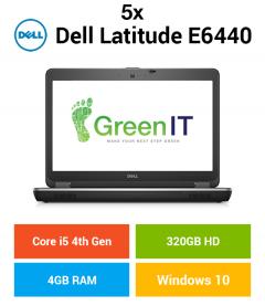 5 x Dell Latitude E6440 Core i5   4GB   320GB HD (Schools & Charity Only)