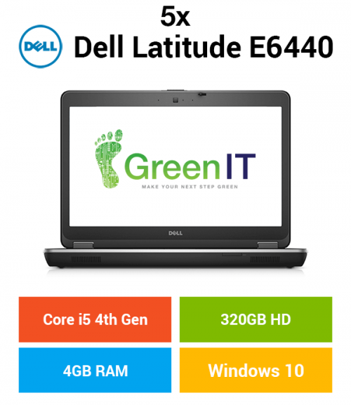 5 x Dell Latitude E6440 Core i5 | 4GB | 320GB HD (Schools & Charity Only)