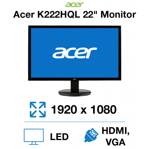"Acer K222HQL 22"" Monitor"