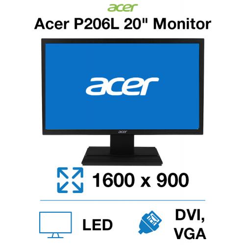 "Acer P206HL 20"" Monitor"