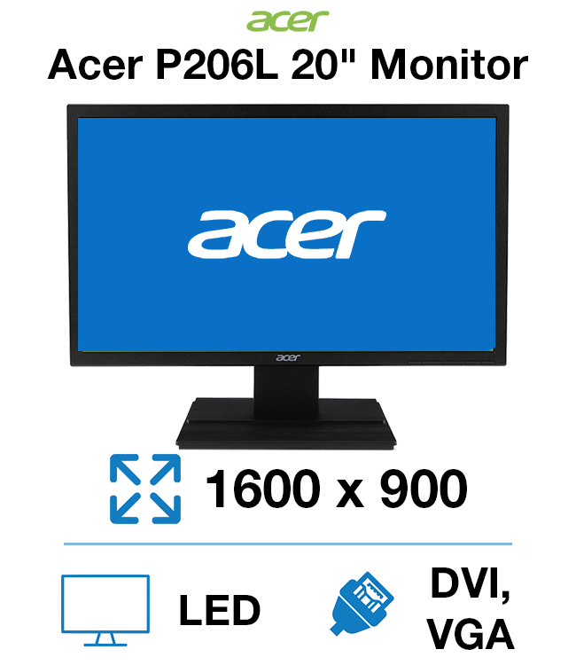 Acer P206HL Drivers for PC