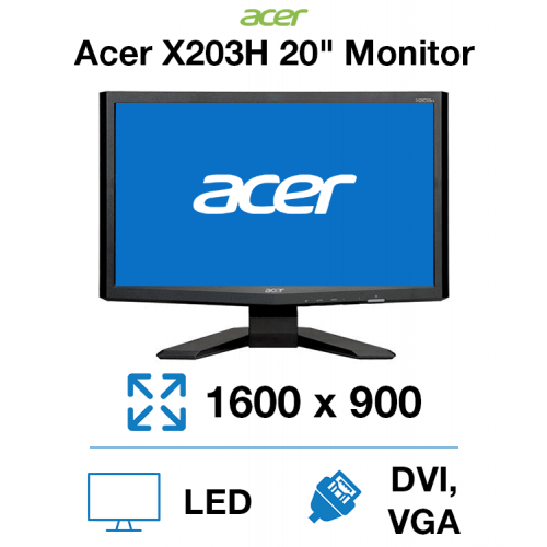 """Acer X203H 20"""" Monitor"""