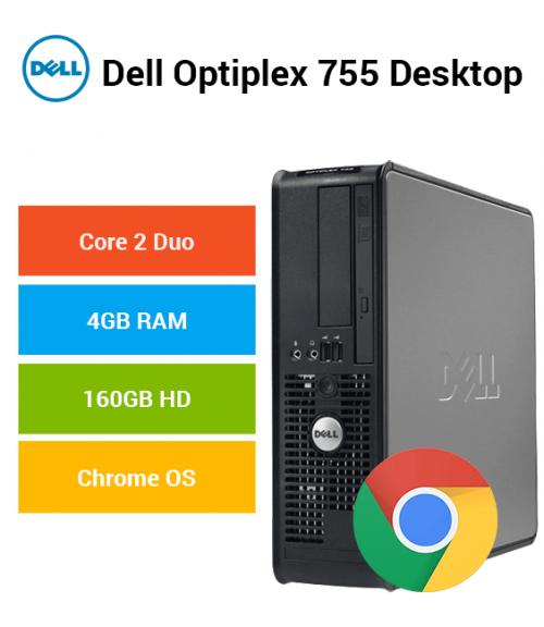 Dell Optiplex 755 Desktop Core 2 Duo | 4GB RAM | 160GB HD | Chrome OS