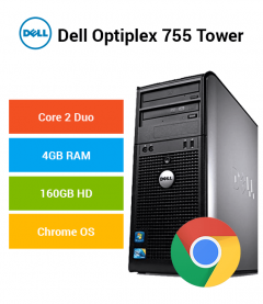 Dell Optiplex 755 Tower Core 2 Duo | 4GB RAM | 160GB HD | Chrome OS