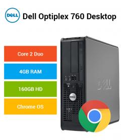Dell Optiplex 760 Desktop Core 2 Duo | 4GB RAM | 160GB HD | Chrome OS