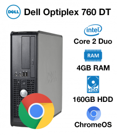 Dell Optiplex 760 Desktop Core 2 Duo | 4GB RAM | 160GB HD | Chrome OS