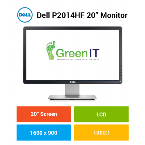 "Dell P2014HF 20"" Monitor"