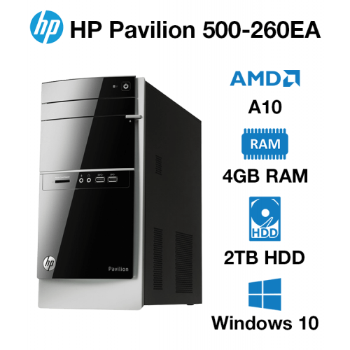 HP Pavilion 500-260EA AMD A10 | 4GB | 2TB HD
