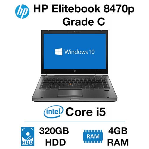 HP EliteBook 8470P Core i5   4GB   320GB HD Grade C