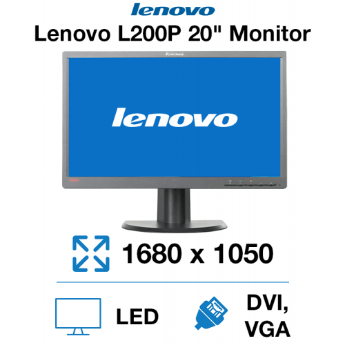 "Lenovo L200PWD 20"" Monitor"
