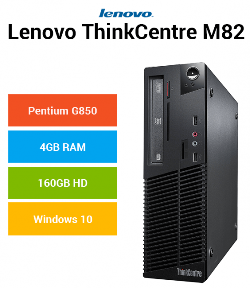 Lenovo ThinkCentre M82 Pentium   4GB RAM   160GB HD