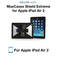 Max Shield Xtreme Case for iPad Air 2 with Kickstand and Handstrap