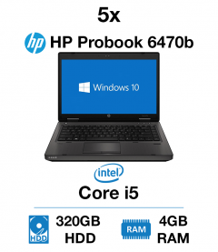 5 x HP Probook 6470b Core i5 | 4GB | 320GB HD (School Offer)