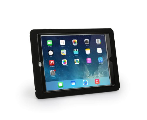 Max Shield Xtreme-S Case for iPad Air - Sleek Version (Black) with Kickstand