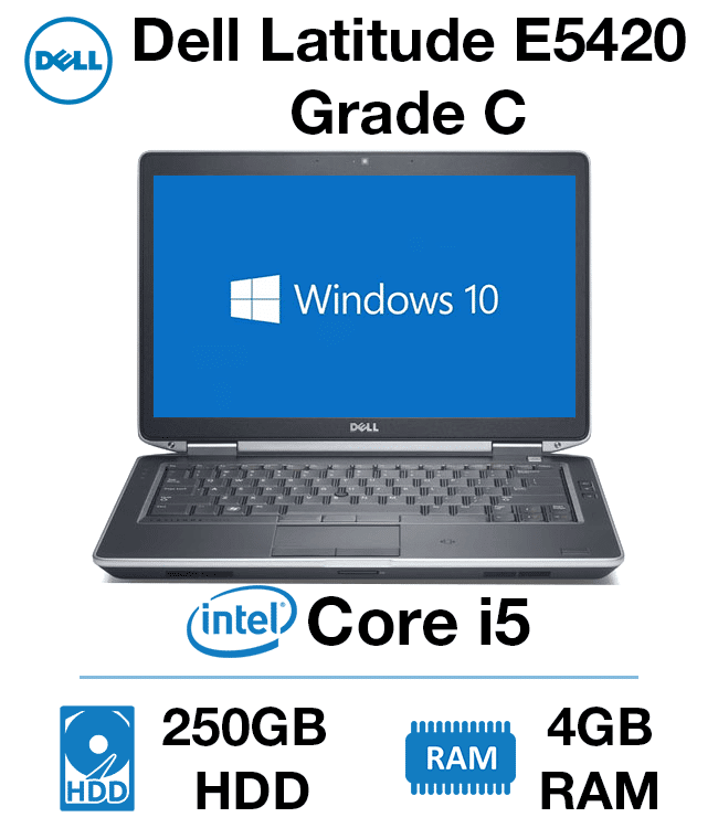 Dell Latitude E5420 Core i5 | 4GB RAM | 250GB HD Grade C (Minor Case Damage  - fully functional)