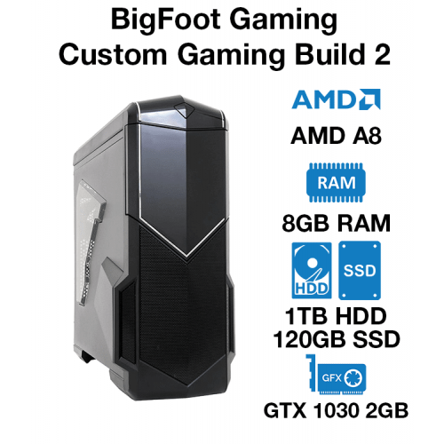 BigFoot Gaming PC Custom Build 3 AMD A8   8GB   1TB HD/120GB SSD
